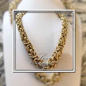 GOLD BYZANTINE STYLE GOLD LINK CHAIN VTG